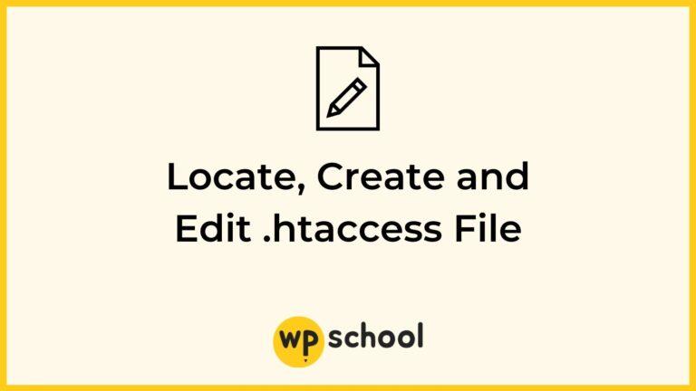 Locate, Create and Edit htaccess File